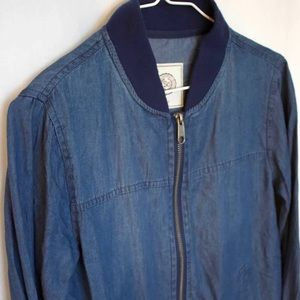 "Blue ""Jean"" Bomber Jacket"